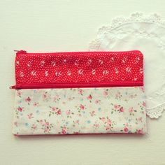 Vintage Red and Floral Purse by Greylace on Etsy, $20.00