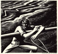 illustration for Herman Melville's Moby Dick, 1930 by Rockwell Kent on Curiator, the world's biggest collaborative art collection. Rockwell Kent, Norman Rockwell, Schmidt, Moby Dick, Woodcut Art, Digital Museum, Thunder And Lightning, Amazing Paintings, Paris Art
