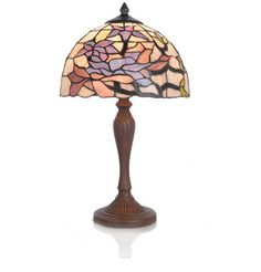 """River of Goods  20.50""""H Stained Glass Star Lily Table Lamp.  See more: http://shop.riverofgoods.com/p/20-50h-stained-glass-star-lily-table-lamp"""