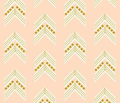 blush gold chevron large fabric by ivieclothco on Spoonflower - custom fabric- change pad cover for nursery