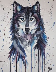 Wolf watercolor in color by Bianca ter Riet on canvas, wallpaper and more Wolf aquarel in kleur van Bianca ter Riet op canvas, behang en meer Artwork: & watercolor in color& by Bianca ter Riet Wolf Wallpaper, Animal Wallpaper, Cute Animal Drawings, Cute Drawings, Fantasy Wolf, Fantasy Art, Watercolor Animals, Watercolor Art, Wolf Sketch