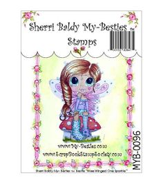 My Besties Clear Stamp-Wee Winged One Sparkle