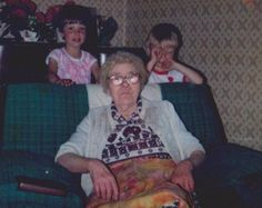 granny Higgins with two of her grandchildren
