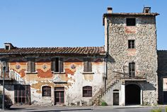 Ancient walls and a house in Figline