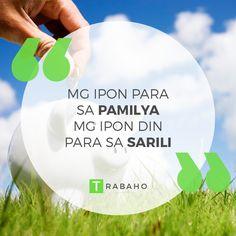Mg ipon para sa Pamilya, Mg ipon din para sa Sarili #Trabaho #OFW #Jordan #Kabayan #Ipon #Family #Sarili #PeraPadala