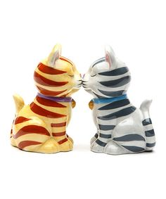 Love this Stripe Cat Salt & Pepper Shakers on #zulily! #zulilyfinds