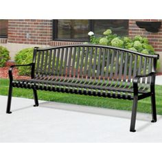 Northgate Arched Back Metal Bench | Outdoor Steel Benches | The Bench Factory