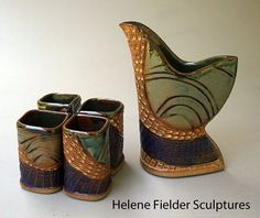 Work done by Helene Fielder, a member of the Craftsmen's Guild of Mississippi.