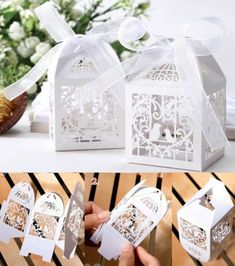 50pcs Love Heart Bird Cage Hollow Party Wedding Favor Candy Gift Box with Ribbon in Home & Garden, Wedding Supplies, Wedding Favors   eBay