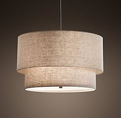 Two-Tier Linen Shade - possible kitchen lighting