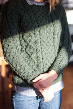 ebc23252cbd5bc Hand Knitted Aran Knit Wool Sweater See the new BIBICO Winter knitwear  collection Chunky Knit Jumper