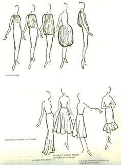 dessin de mode couture stylisme patronage dessiner ses patrons drawing patterns. Black Bedroom Furniture Sets. Home Design Ideas