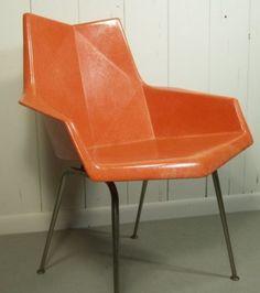 Vintage Modern PAUL McCOBB Origami Cubist Fiberglass Shell
