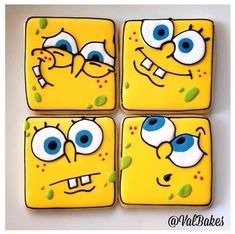 Spongebob Cookies ! https://cookiecutter.com/square-cookie-cutters.htm