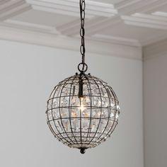 Crystal globe pendant lamp from Birch Lane