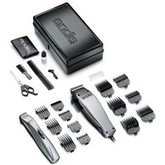 The Andis hair clippers kit contains a cordless model that operates on just two AA batteries, and the clipper adjusts from fine to coarse hair at the touch of a lever. Andis Clippers, Hair Clippers & Trimmers, Long Beard Styles, Hair And Beard Styles, Hair Styles, Coarse Hair, Beard Trimming, Beard No Mustache, Everything