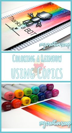 Creating a Background Coloring a Rainbow Using Copics and no stamps. Check out my full color list on creating this rainbow.