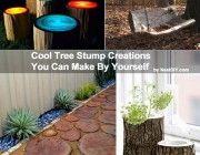 6 Cool DIY Tree Stump Creations