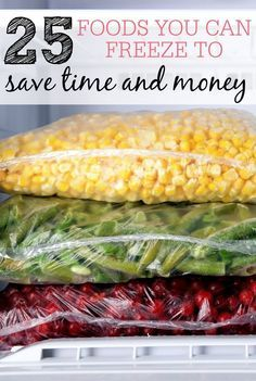 Want to save more time and money? Check out these foods you can freeze. Buy or make when things are on sale and enjoy them all year long.