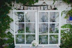 Seating chart at my wedding #personal #seatingchart #window #weddinginspiration #harmeyerwedding