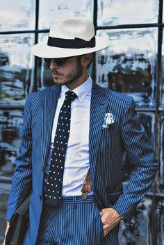 gentlemenzone:  Blue is always Great… #Follow gentlemenzone on Instagram @gentlemenzone