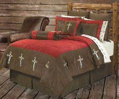 Western Red Cross Comforter Bedding Set Queen H&H Designs http://www.amazon.com/dp/B00B5HPGII/ref=cm_sw_r_pi_dp_zTs5tb0MK9KTE