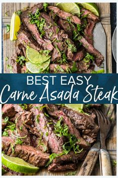 Oct 2019 - This authentic carne asada steak recipe is quick and easy and packed full of flavor. Perfect for an easy weeknight meal, this Mexican dish is a real crowd pleaser! Can be cooked on the stovetop or the grill. Mexican Steak Recipe, Mexican Dip Recipes, Mexican Dishes, Meat Recipes, Cooking Recipes, Game Recipes, Quiche Recipes, Recipes Dinner, Yummy Recipes