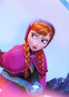 "Anna ""It's not nice to throw snow people! Best Disney Movies, Disney Girls, Disney Love, Disney Magic, Disney Stuff, Frozen Fan Art, Anna Frozen, Disney Frozen, Disney And Dreamworks"