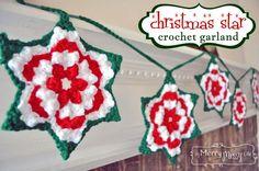 Crochet Christmas Star Granny Garland – Free Pattern