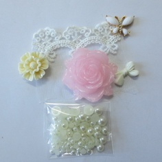 Cute Pink Flower Butterfly Lace Lolita DIY for I Phone 4S 4 Case Deco Den Kit A | eBay    US $4.98  FREE SHIP