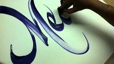 caligrafia por jorge enrique pulido - calligraphy www.facebook.com/elcaligrafo