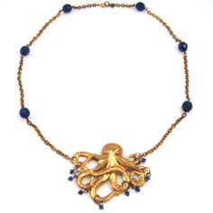 Octopus necklace - Solange Fantastic Voyage Necklace | Manic Trout Jewelry