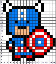 blanket ideas - Captain America pixel art creative inspiration