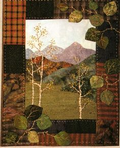Aspen Grove Miniature Quilt Pattern Rocky Mountain Memories 8 034 x 10 034 Applique | eBay