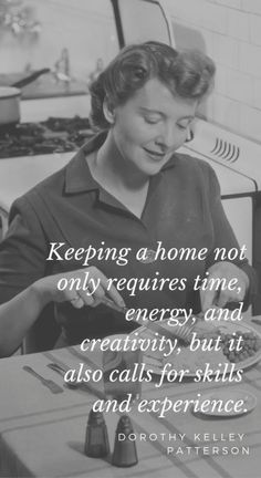 9 Quotes on Homemaking: Encouragement for Homemakers Quotes about homemaking and encouragement for homemakers. It's not about being the perfect housewife! It's about simple homemaking skills. Dad Quotes, Mother Quotes, Mom Sayings, Funny Quotes, Family Quotes, 1950s Housewife, Vintage Housewife, Homemaker Quotes, Vintage Love Quotes