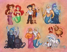 Little Mermaid vs Hercules by *daekazu
