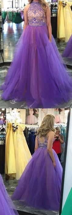 Long Prom Dresses,2 piece Prom Dresses,Two Piece Prom Dresses, 2017 Prom Dresses, Sexy Prom Dresses
