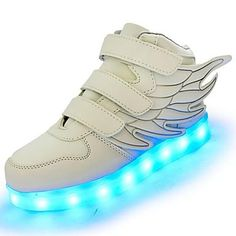 e6a0b5e409ea3 Girls  Shoes Leatherette Fall   Winter Comfort   Light Up Shoes Sneakers  Walking Shoes LED for Green   Blue   Pink