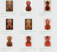 Our #cello catalog features a wide selection of fine old and modern master-crafted cellos.