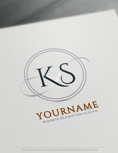 Create a Logo with our Free Alphabet Logo Maker and of Initial Logo Designs. Use our online Monogram Maker to design perfect letter Logo. Letter Logo Maker, Monogram Maker, Cool Lettering, Lettering Design, Alphabet Logo, Alphabet Letters, Logo Maker Software, Beste Logos, Best Logo Maker