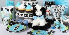 Baby Boy Cow Print Baby Shower Decorations Baby Boy Cow Print Baby Shower Decorations Baby Boy Cow P Baby Boy Themes, Boy Baby Shower Themes, Baby Shower Gender Reveal, Baby Shower Parties, Baby Shower Decorations, Baby Boy Shower, Cow Baby Showers, Baby Boy Newborn, Baby Baby
