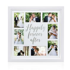 Relive the joy and romance of your wedding day everyday with the Pearhead Happily Ever After Collage Frame. It features openings for displaying 8 favorite photos and is a nice way to consolidate and celebrate the memorable moments from your relationship. Wedding Picture Collages, Wedding Collage, Wedding Frames, Photo Collages, Wedding Albums, Wedding Pics, Wedding Ideas, On Your Wedding Day, Perfect Wedding