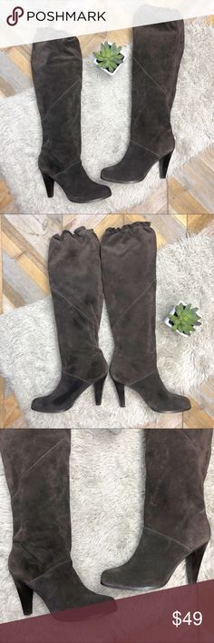 948ef6cd91b •MICHAEL KORS• Dark Brown Suede Tall Heeled Boots Dark brown suede boots  from MICHAEL