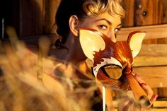 Fox Leather Mask by Sundries & Plunder