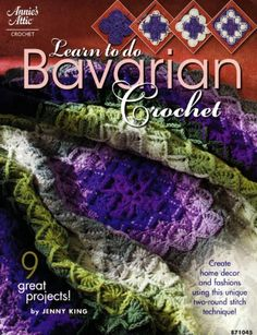"BOOK ""Learn to do Bavarian Crochet"" save it!"