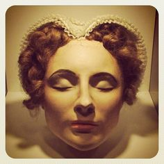 The death mask of Mary Stuart, Queen of Scots. Mary was the great granddaughter of Henry VII, great niece of Henry VIII and cousin to Elizabeth I and Mary Tudor.: