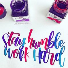 I can't tell you how excited I am for the weekend! It's a bank holiday here so I've got 3 days off to chill and catch up with my Etsy prints! No freelance, no work. just a full weekend of fun, colourful arty stuff! I can't wait 🎨 . Brush Markers, Brush Pen, Brush Lettering, Lettering Design, Spring Bank Holiday, Letter Art, Day Off, Modern Calligraphy, Class Ring