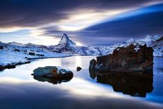 Matterhorn The Matterhorn (German), Monte Cervino (Italian) or Mont Cervin (French), is a mountain in the Pennine Alps on the border between Switzerland and Italy. Its summit is 4,478 metres (14,692 ft) high, making it one of the highest peaks in the Alps. The four steep faces, rising above the surrounding glaciers, face the four compass points. The mountain overlooks the town of Zermatt in the canton of Valais to the north-east and Breuil-Cervinia in the Aosta Valley to the south. Theodul…