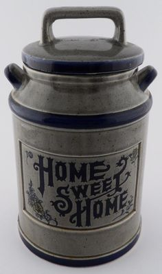 Vintage Milk Can Ceramic Cookie Jar - Home Sweet Home