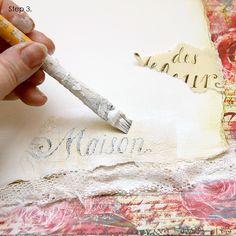 Ingvild Bolme: Make your own shabby chic background - tutorial